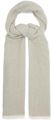 Allude Eyelash-fringed Cashmere Scarf - Grey