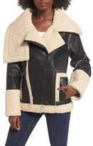 Blank NYC BLANKNYC Faux Shearling & Faux Leather Jacket