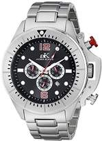 Adee Kaye Men's AK9041-MBK Guardian Analog Display Japanese Quartz Silver Watch