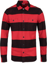 Edwin Red & Black Heavy Striped Labour Shirt