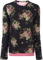Comme des Garcons floral print sweatshirt