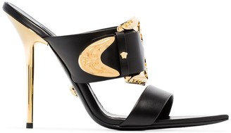 Versace Baroque 110mm leather mules