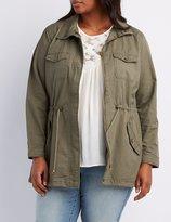 Charlotte Russe Plus Size Drawstring Anorak Jacket