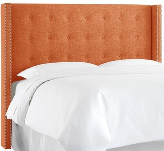 Skyline Furniture Upholstered Wingback Headboard Size: Queen, Upholstery: Zuma Atomic
