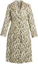 Raquel Allegra Abstract-jacquard cotton-blend coat