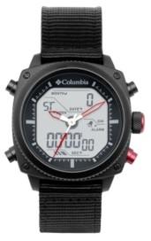Columbia Men's Ridge Runner Black Nylon Analog-Digital Watch 45mm