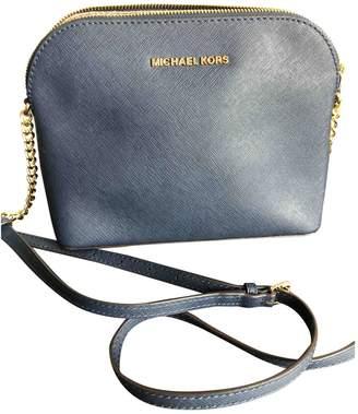 Michael Kors Cindy Navy Leather Handbags