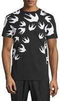 McQ Bird-Print Short-Sleeve T-Shirt