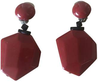 Angela Caputi Red Plastic Earrings