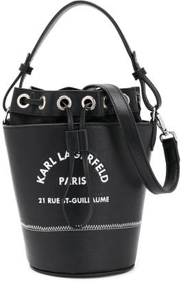 Karl Lagerfeld Paris Logo-Print Bucket Bag