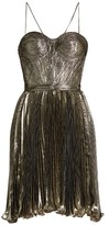 Maria Lucia Hohan Norina silk-blend lamé pleated dress