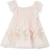 Biscotti Girls' Special Occasion Dresses PINK - Pink Spring Garden Smocked Dress - Infant & Toddler