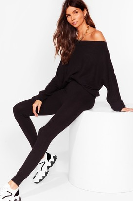 Nasty Gal Womens Ready Set Go Knitted Sweater and Legging Set - Black