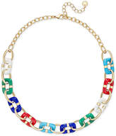 Charter Club Colored-Link Statement Necklace, Only at Macy's