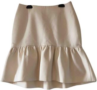 MSGM White Wool Skirt for Women