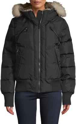 Pajar Fox Fur & Faux Fur-Trim Down-Filled Jacket