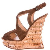 Alexa Wagner Suede Wedge Sandals