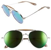 Givenchy Women's 56Mm Aviator Sunglasses - Palladium