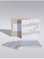 Marks and Spencer Gold Calligraphy Wedding Invitations