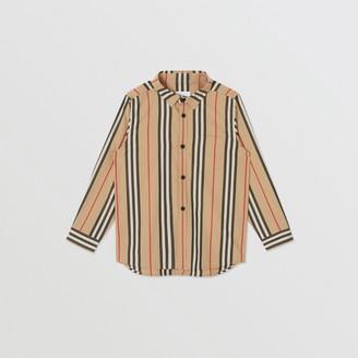 Burberry Childrens Icon Stripe Cotton Poplin Shirt