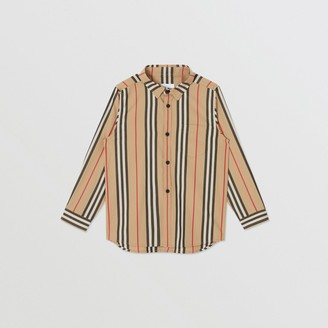 Burberry Icon Stripe Cotton Poplin Shirt