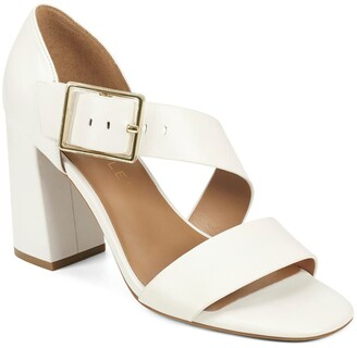Aerosoles Lenox Buckled Block Heel Sandal