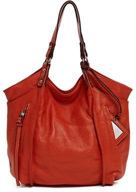Kooba Logan Leather Tote Bag, Red
