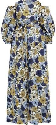 Lisa Marie Fernandez Rosie Off-the-shoulder Floral-print Linen Maxi Dress