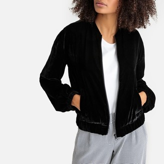 La Redoute Collections Velour Bomber Jacket with Pockets