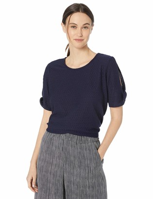 Chaus Women's 3/4 SLV Textured Knit Top