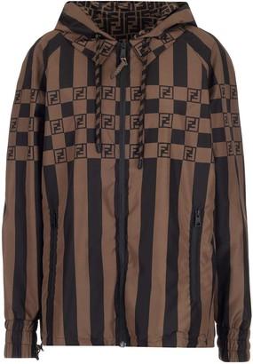 Fendi Logo Striped Jacket