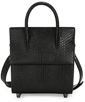 Christian Louboutin Mini Paloma Snakeskin-Embossed Leather Tote