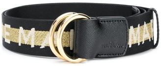 Marc Jacobs Glitter Logo Belt