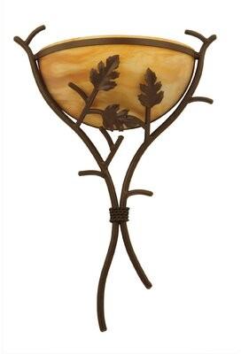 1-Light Oak Branch Wall Sconce Meyda Tiffany