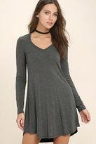 LuLu*s Relaxation Black Long Sleeve Dress