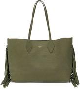 Balmain medium crocodile-printed leather tote bag