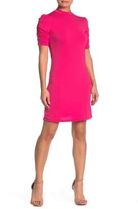 Velvet Torch Ruche Sleeve Crepe Dress
