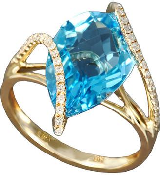 Effy Fine Jewelry 14K 6.28 Ct. Tw. Diamond & Topaz Ring