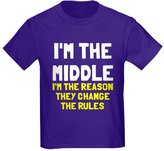 CafePress - I'm The Middle Change Rules - Youth Kids Cotton T-shirt