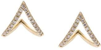 Ef Collection diamond chevron huggie earrings