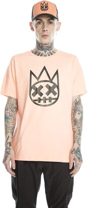 Cult of Individuality T-Shirt - Short Sleeve Crew Neck Tee Clean Shimuchan Logo - Regular Mens Coral