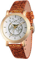 EWatchFactory Gold Cookie Monster Leather-Strap Watch - Girls