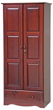 Winston Porter Primm Armoire Color: Mahogany