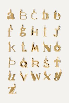 Monica Vinader A-z Alphabet Letter Gold Vermeil Pendants - U