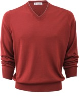 Brunello Cucinelli V-Neck Fine Gauge Sweater