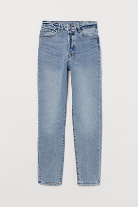 H&M Mom High Ankle Jeans - Blue