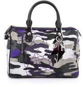 Christian Dior Pre-owned: Polochon Satchel Limited Edition Anselm Reyle Camouflage Canvas Medium.