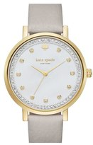 Kate Spade 'monterrey' Leather Strap Watch, 34mm