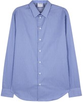Armani Collezioni Blue Striped Cotton Shirt