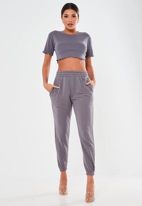 Missguided Petite Grey Basic Joggers